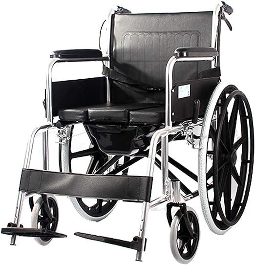 Sillas de ruedas autopropulsadas pesadas con inodoro, scooter ...