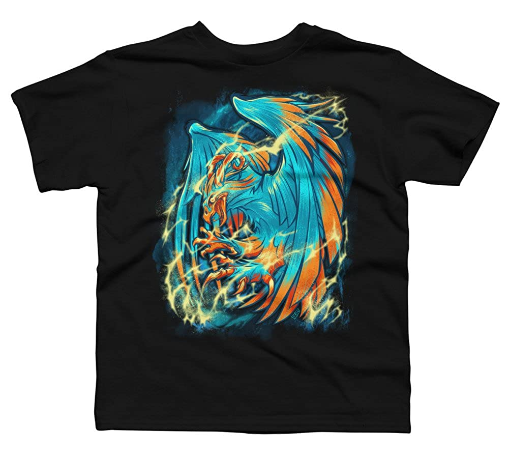 Design By Humans BIRD OF THUNDER Boys Youth Graphic T Shirt