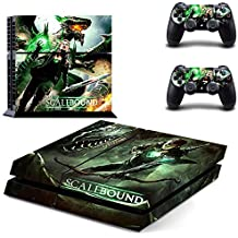 Vinyl Decal Protective Skin Cover Sticker for Sony PS4 Console And 2 Dualshock Controllers - Scalebound