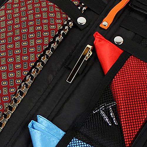 HDE Travel Tie Case Necktie Luggage Organizer Portable Nylon Storage Bag by HDE (Image #2)