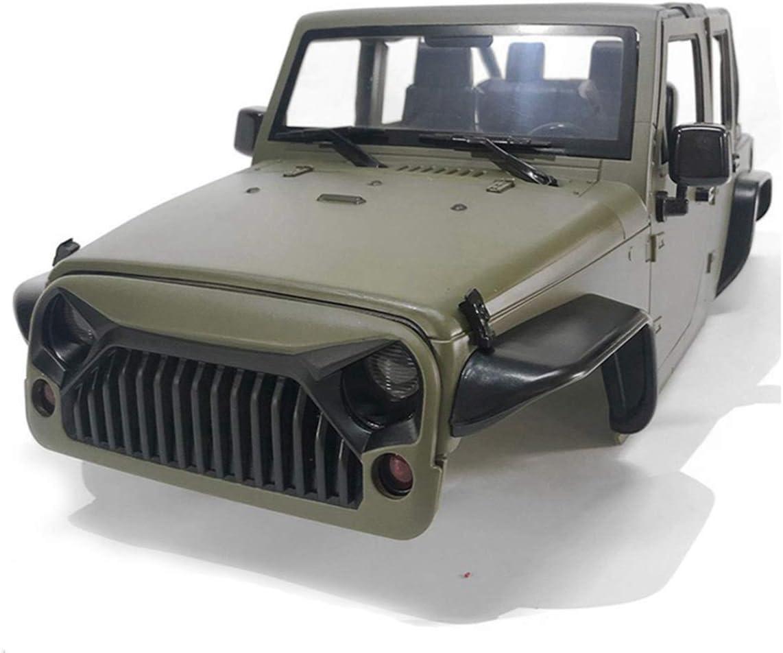 HIUHIU Rock Crawler 1/10 Wrangler Rubicon, Kit de carrocería ...
