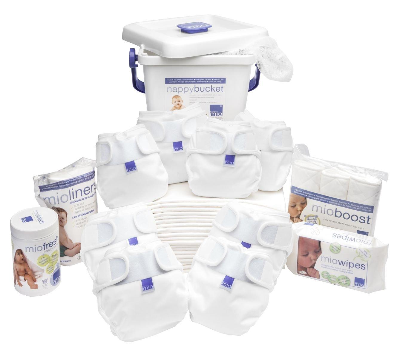 Bambino Mio, Miosoft Cloth Diaper Premium Birth to Potty Pack, White