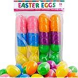American Carnival Mart Plastic Easter Eggs (24 Pack) Hinged 6 Asst Colors