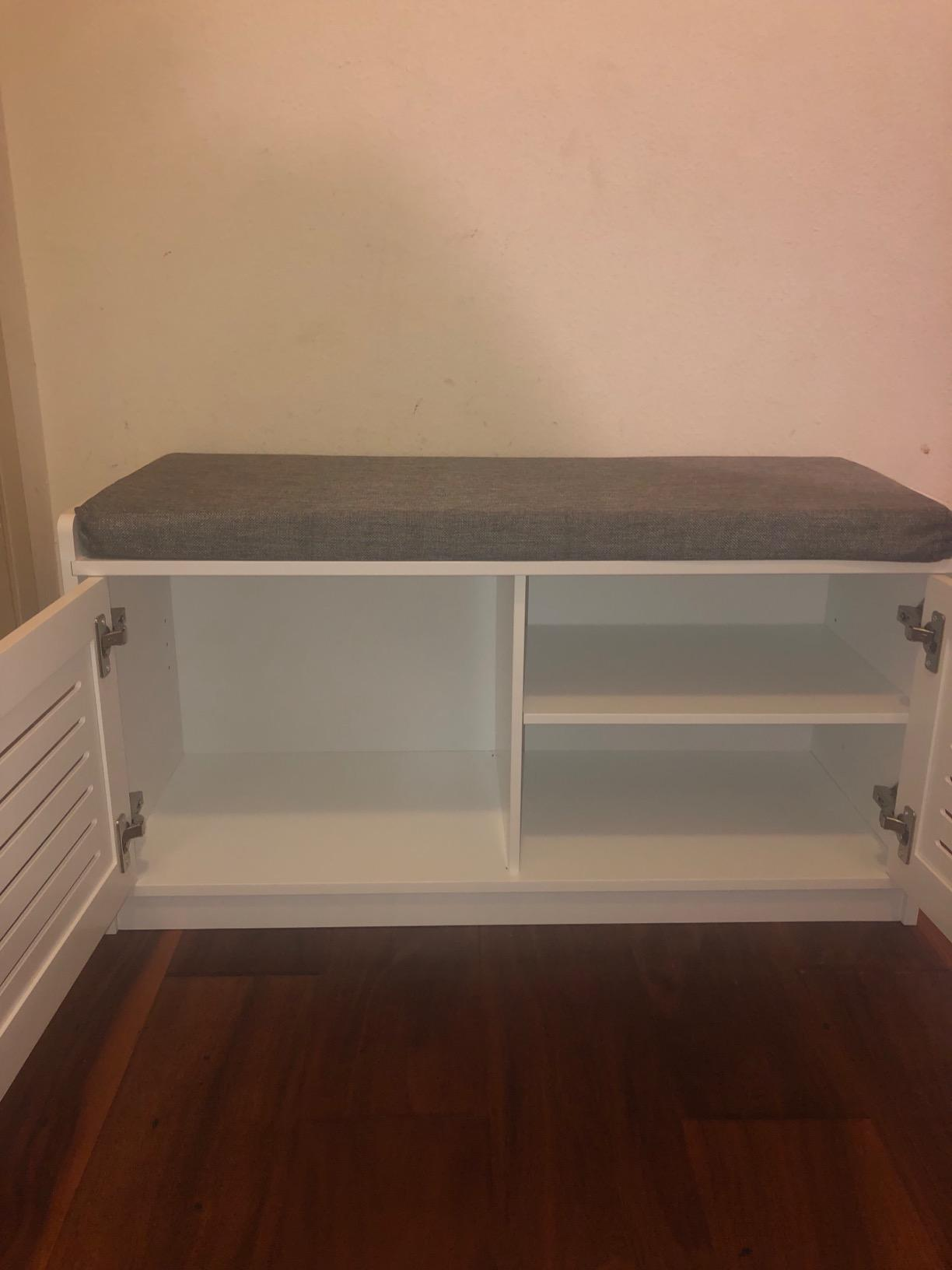 Excellent Sturdis Shoe Storage Bench With Cushion Ocoug Best Dining Table And Chair Ideas Images Ocougorg