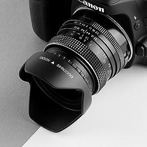 82mm Lens Hood,Universal Tulip Flower Lens Hood Sun Shade with Centre Pinch Lens Cap for Canon Nikon Sony Pentax Olympus Fuji Camera (Color: Tulip lens hood, Tamaño: 82mm)