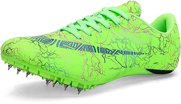 HYGLPXD Zapatillas de Atletismo Unisex Zapatillas de Cricket de Alta Elasticidad Zapatillas de Clavos Profesionales de 8 Clavos Salto Largo Zapatillas de Entrenamiento,002,42EU: Amazon.es: Deportes y aire libre