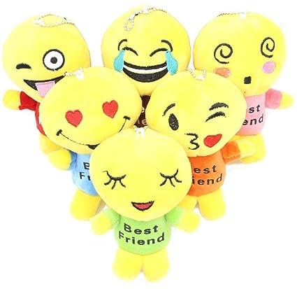 855510c4f43 6pcs Cute Plush Stuffed Cartoon Emoji Doll with Best Friends Pattern,  4.7inch Small Soft