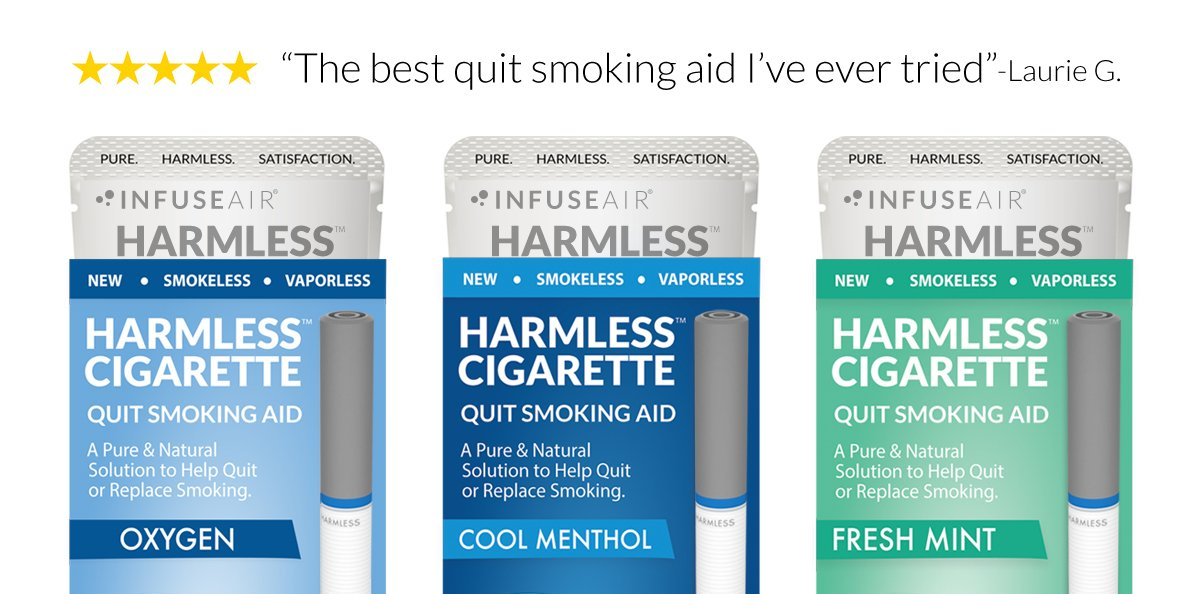 Natural Quit Smoking Aid/Safe & Effective Habit Replacement/Satisfy Cravings & Reduce Cravings/FREE Support Guide Included (6 Pack, Best Value)