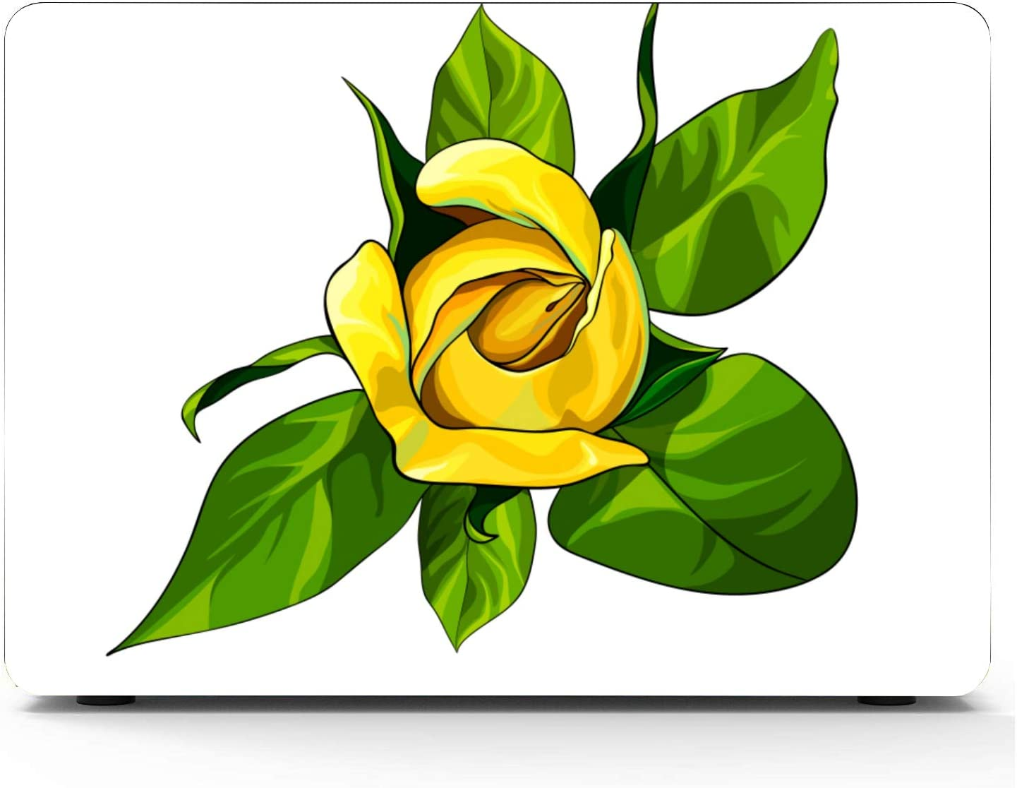 Laptop Hard Cover Charming Amazing Yellow Rose Flowers Plastic Hard Shell Compatible Mac Air 11 Pro 13 15 MacBook Air A1466 Case Protection for MacBook 2016-2019 Version