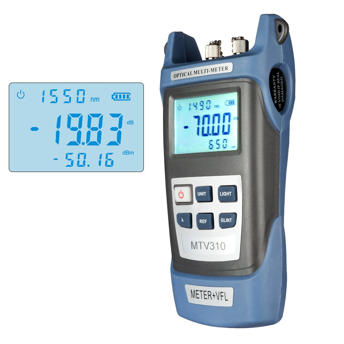bfc10be716d uxcell Fiber Optical Power Meter with Light Source SC FC ST Connector Optic  Test Equipment for CCTV CATV Communication Engineering -70dBm to 3dBm  ...