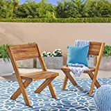 Great Deal Furniture Irene Outdoor Acacia Wood Chairs (Set of 2), Teak