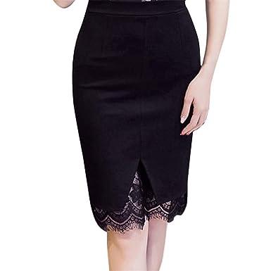 revendeur e1fb4 350ee Femmes Jupes Taille Haute Mini Courte Hem Dentelle Jupe ...
