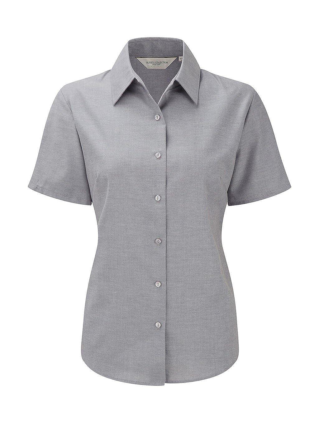 Pflegeleicht ** R-933F-0 ** NEU Damen Oxford Bluse Russell Europe XS bis 6XL