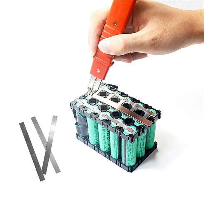 Cinta de tira de níquel puro para soldadura Li 18650, compatible con máquina de soldadura Spot: Amazon.es: Bricolaje y herramientas