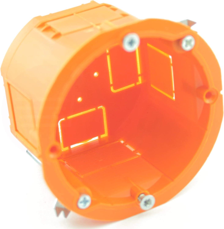 MKK - Caja de empalme para empotrar (60 x 45 mm), color naranja ...