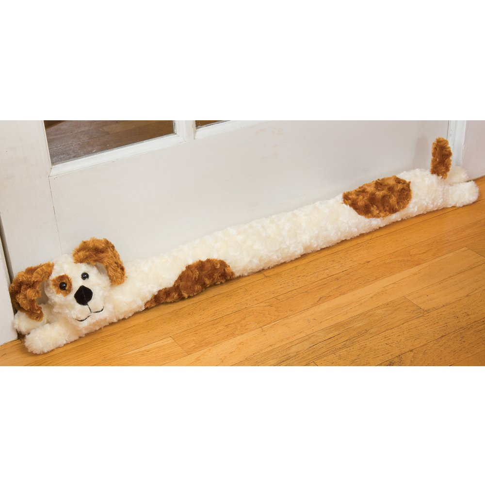 Bits and Pieces - Plush Doggie Door Draft Stopper - Door and Windrow Breeze Guard - Keep Heat in and Cold Out