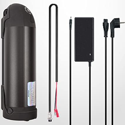 Trinkflaschen E-bike Akku Ladegerät für Pedelec Batterie Li-ion 36V 10Ah 370wh