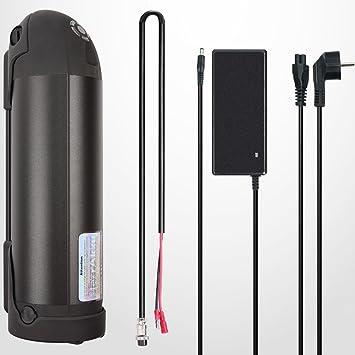 36V-10AH Li-Ion E-Bike Batterie mit Ladegerät und USB Anschluss für Laden Elektrofahrräder