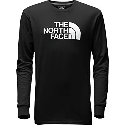92bd49752 The North Face Mens Long Sleeve Half Dome Logo Tee (3X-Large, Black ...