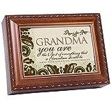 Cheap Cottage Garden Grandma Woodgrain Music Box/Jewelry Box Plays How Great Thou Art