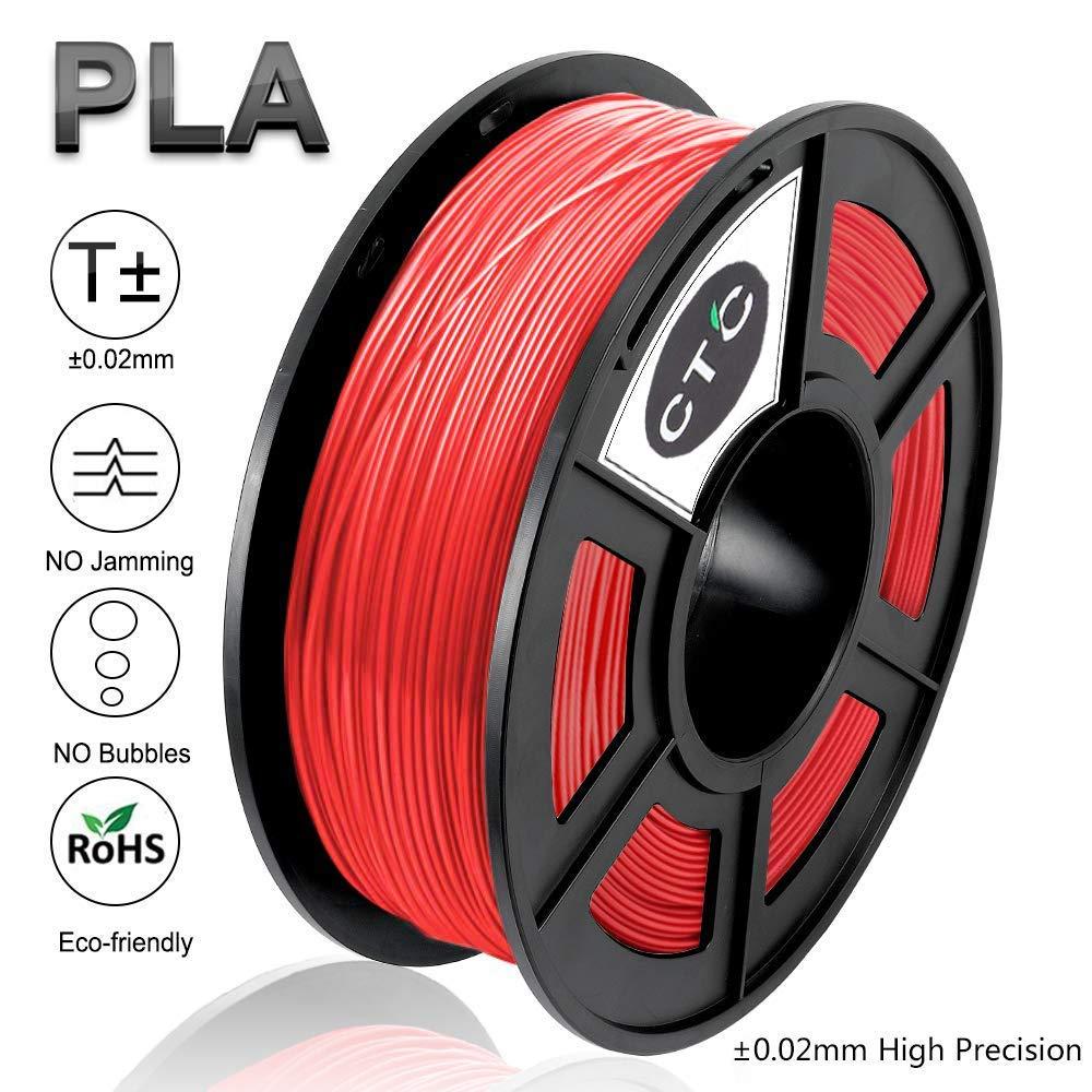 PLA 3D Drucker Filament - Schwarz 1.75 mm (Maß genauigkeit+/- 0.02 mm) High Quality Umweltfreundlich PLA 3D Filament fü r 3D Drucker & 3D Stifte (Black-2) dddmaterial