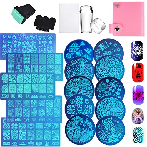 Nail Art Image Stamp Stamping Templates Stamper Scraper, used for sale  Delivered anywhere in Canada
