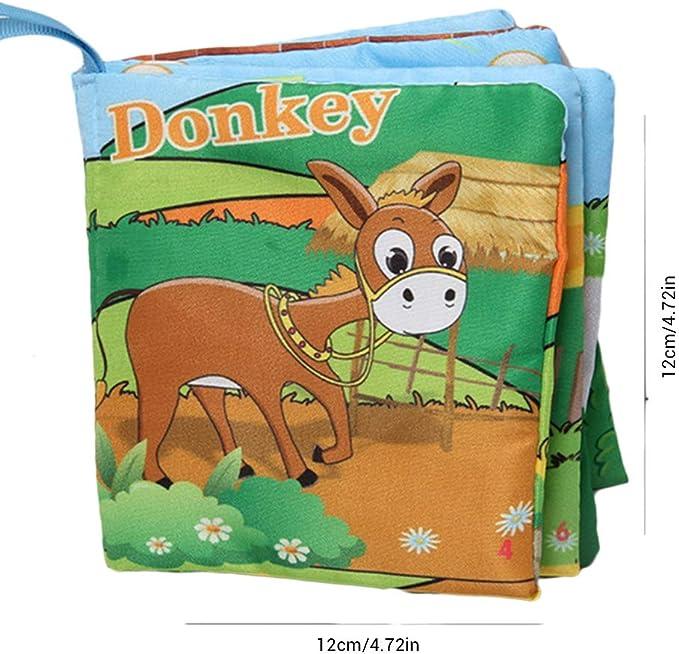 Faviye Libro de Tela para beb/é Bonitos Libros para ni/ños a dise/ño de Animales