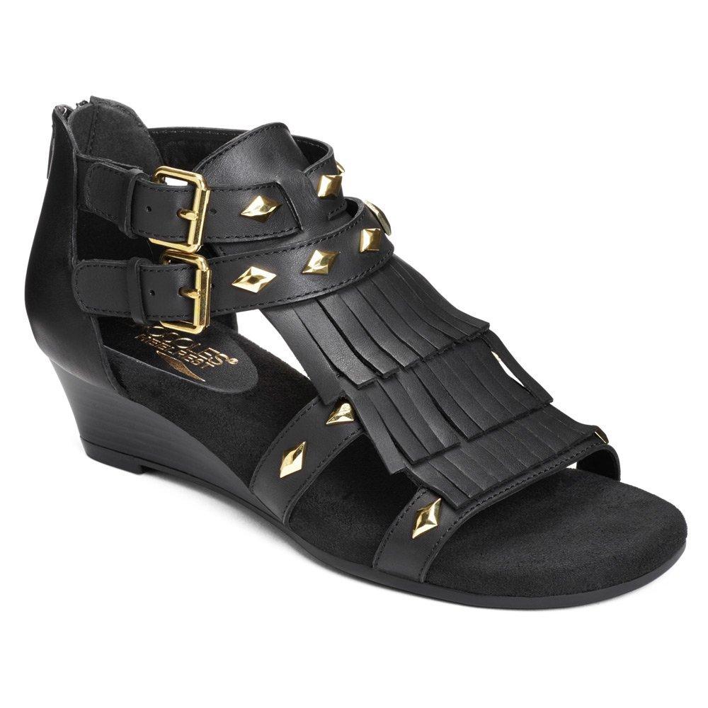 Aerosoles Women's Yetaphor Sandals B01G5WWGJY 6 B(M) US|Black Leather