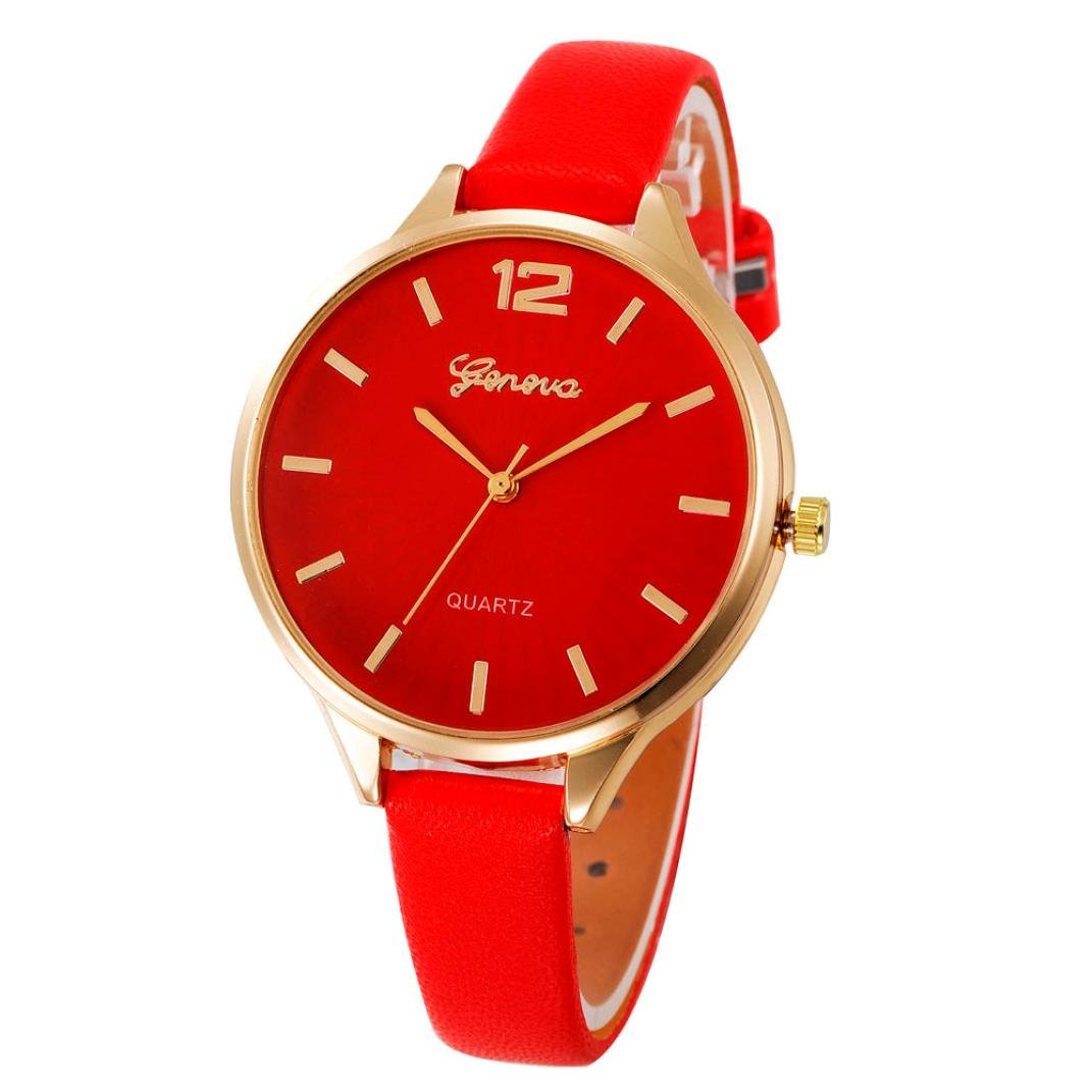 Amazon.com: Womans Watch,Casual Checkers Quartz Analog Watch Faux Leather Wristwatch Chimes Axchongery (Black): Clothing