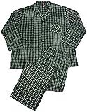 Hanes - Mens Tall Long Sleeve Broadcloth Pajamas, Black, White 37518-XX-LargeTall