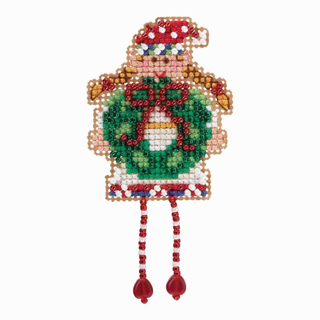 Holli Elf Beaded Counted Cross Stitch Ornament Kit Mill Hill 2018 Winter Holiday MH181832