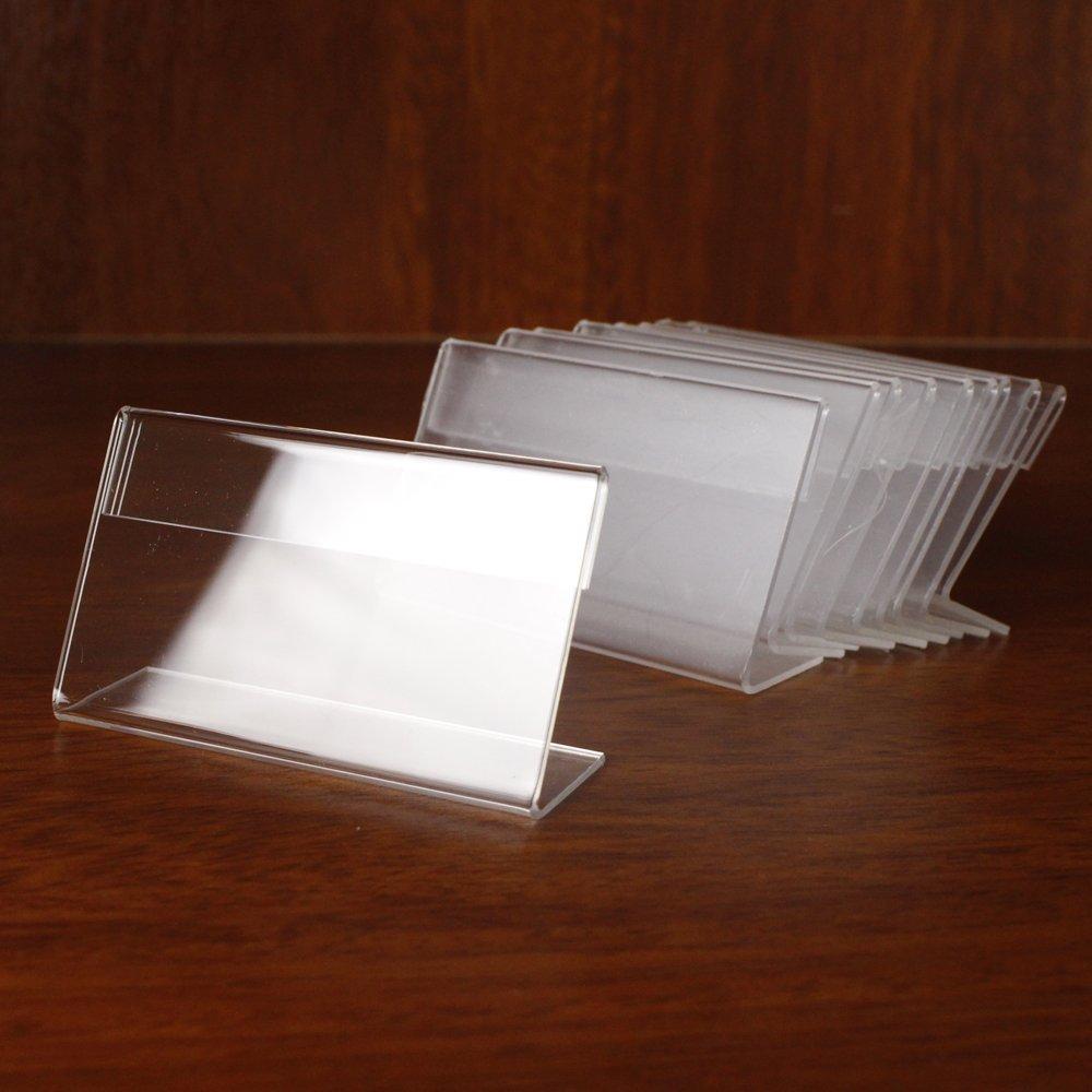 Earlywish 50PCS Sign display del prezzo desktop nome biglietti informazioni etichetta etichetta Counter top stand di 6/cm x 4/cm
