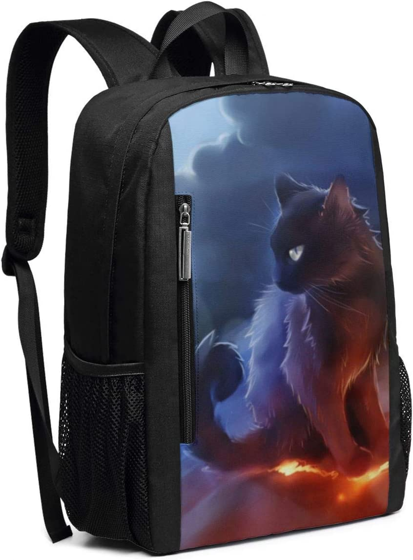 Cat Warrior School Rucksack College Bookbag Lady Travel Backpack Laptop Bag for Boys Girls