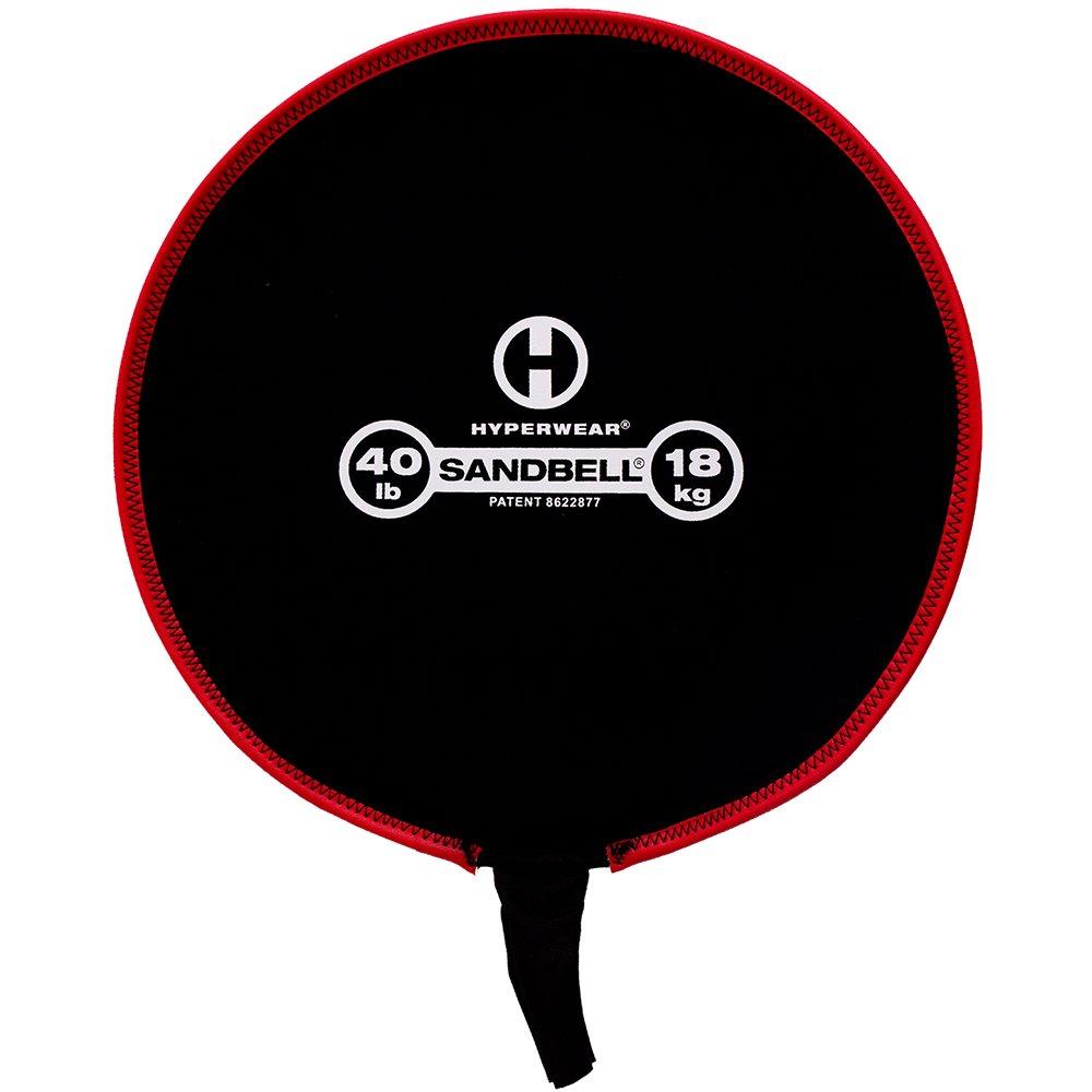 Hyperwear SandBell Neoprene Sandbag Free Weight (Unfilled), 40-Pound