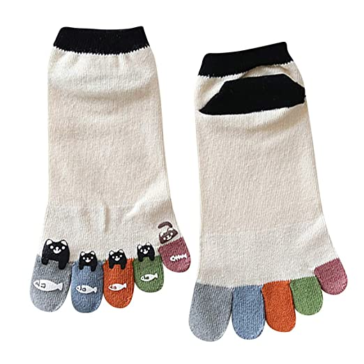 Underwear & Sleepwears 1 Pair New Five Finger Pure Cotton Sock Autumn Winter Warm Unisx Style Men Women 6 Colors Accessories