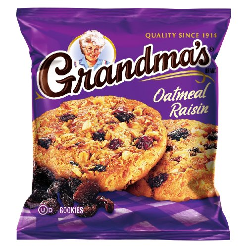 Grandma's Oatmeal Raisin Cookies, 2.5 Ounce (Pack of 60) (Best Chewy Oatmeal Chocolate Chip Cookies)