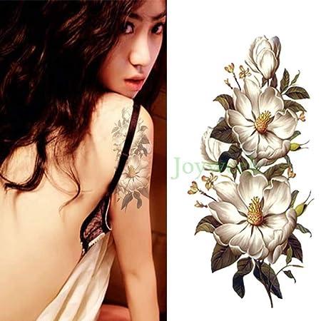 Handaxian 3 Piezas Etiqueta engomada del Tatuaje Hermosa Flor ...