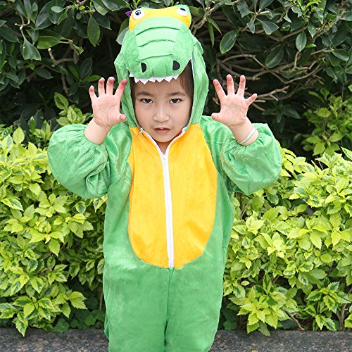 Children Party Costume Cartoon t-rex Costume Funny Clothes Performance Kids Dinosaur Cosplay Costume (M(Height 35.4''-41.3''/90cm-105cm), Dinosaur) by YOWESHOP (Image #7)