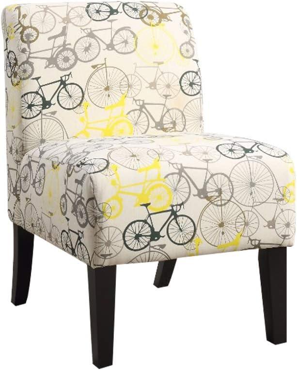 Benzara Ollano Accent Chair, Pattern Fabric