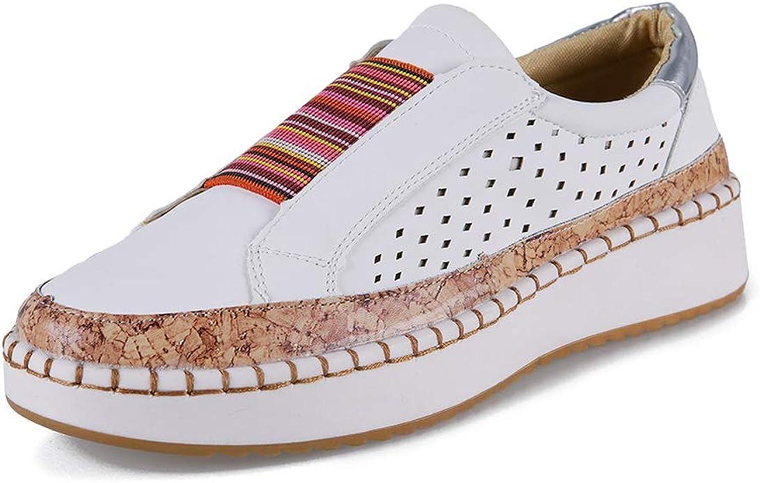 Zapatos Mujer Plataforma Alpargatas Planos Mocasines Cuña 4cm ...