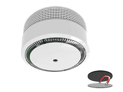 Mini detector de humo, 10 años de garantía y de batería/VDS Certificado y