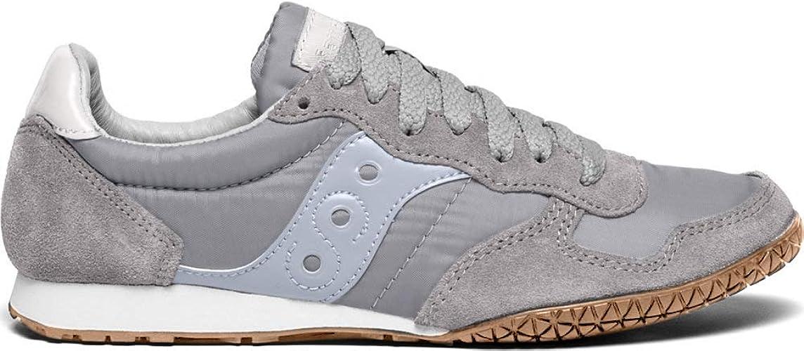 Amazon.com   Saucony Women's Bullet Sneaker, Grey/Gum, 11 M US