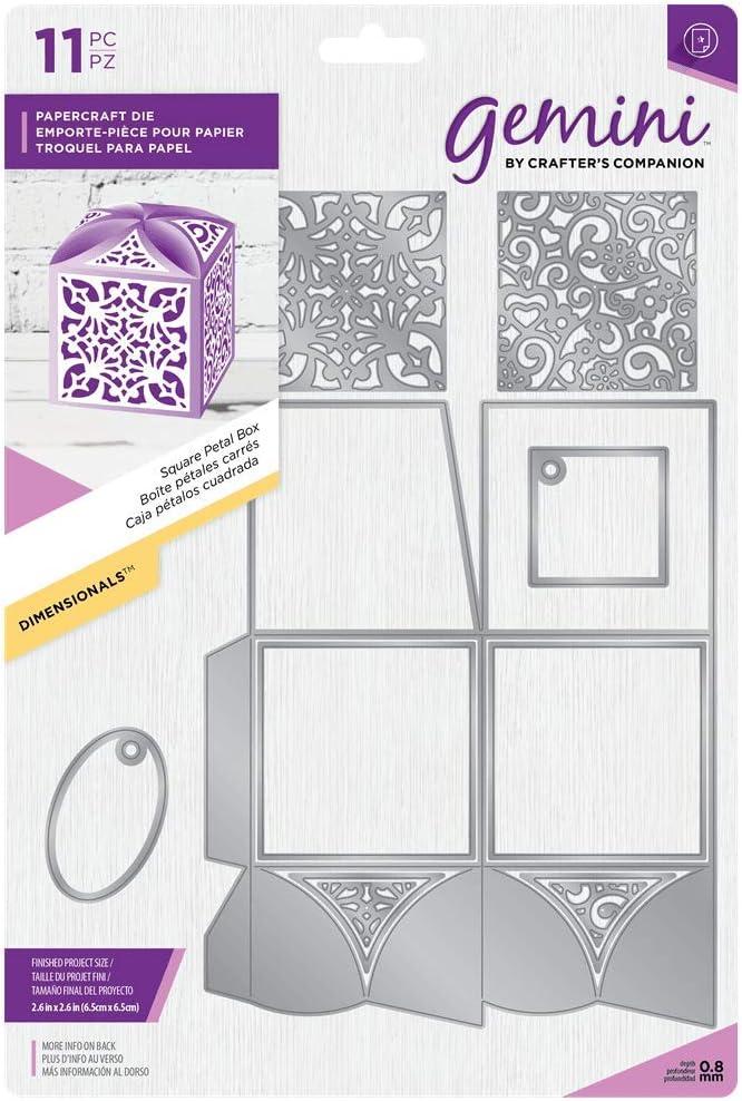 Gemini - Troquelado en Caja de Regalo, diseño de pétalos Cuadrados ...