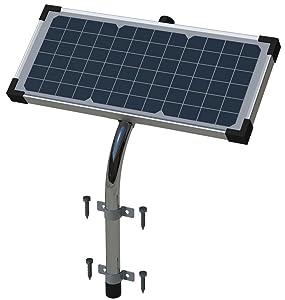 GHOST CONTROLS AXDP Premium 10 Watt Monocrystalline Solar Panel for Automatic Gate Opener Systems