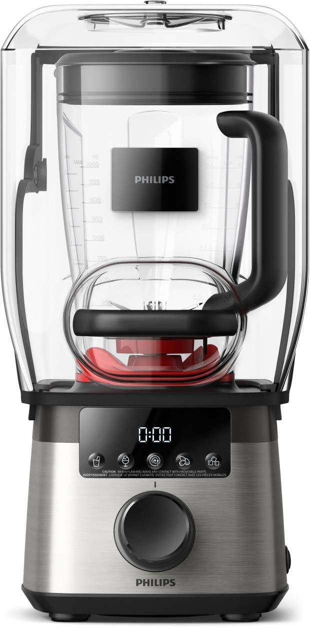 Philips Kitchen Appliances HR3868/90 High Speed Power Blender with ProBlend Extreme Technology, Standard, Black and Silver
