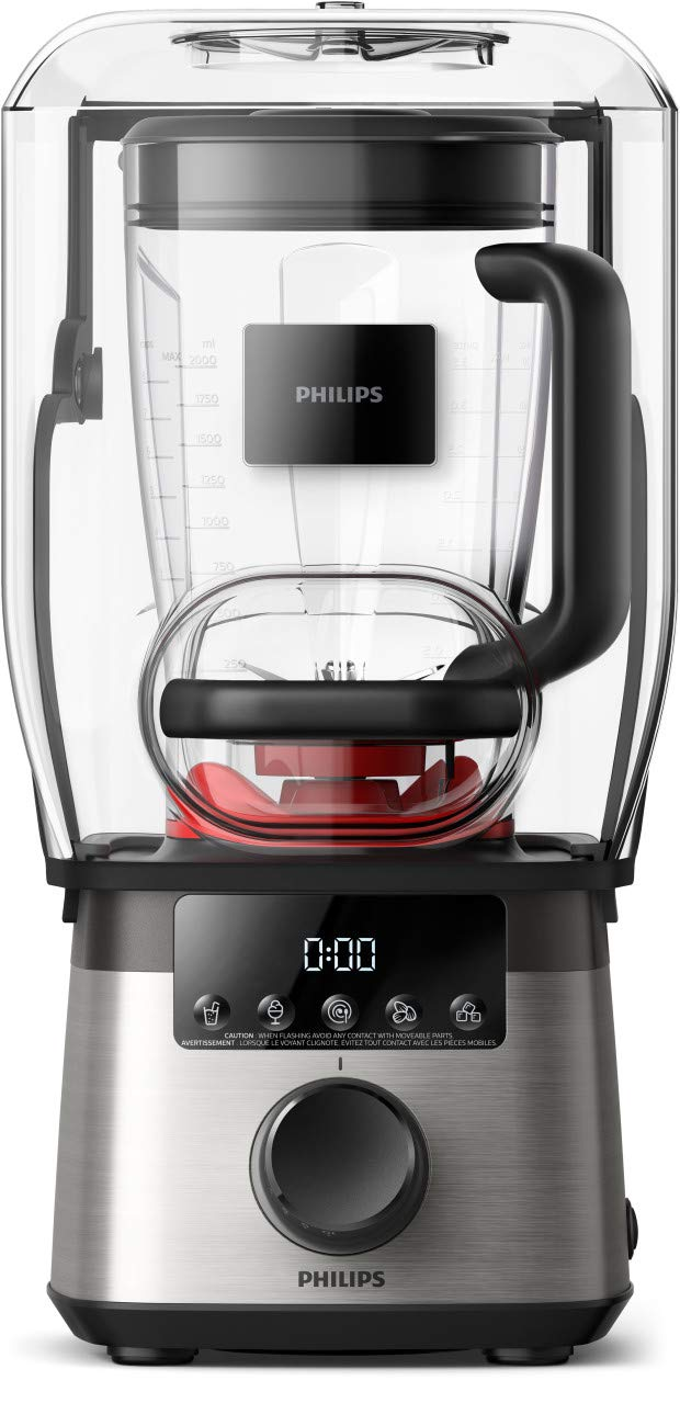 Philips Kitchen HR3868/90 High Speed Power Blender with with ProBlend Extreme Technology, Black and Silver