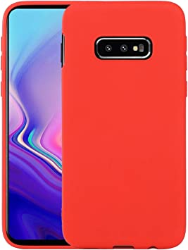Liamoo Samsung Galaxy S10e Coque Silicone TPU - Rouge - Mince Case - Housse Étui de Protection - Anti-Rayures et Anti-Chocs