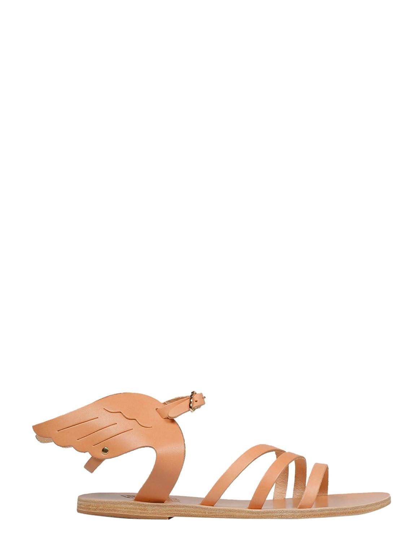 Ancient Damen Greek Sandals Damen Ancient IKARIANATURAL Grün Leder Absatzschuhe f27a82