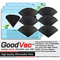 Filter Queen Activated Charcoal Filter Cones 6 Pack Odor Filters Replacement by GoodVac (6)