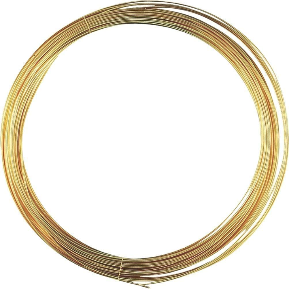 IQQI H65 Brass Wire Coil Cu Material Diameter 0.9mm Length 10 Meters for Industrial Use and DIY Art Craft Projects